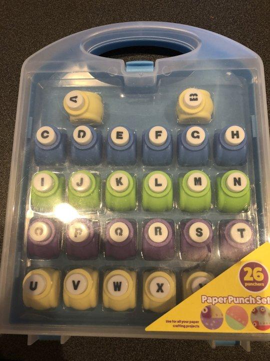 クラフトパンチ アルファベット26文字セット